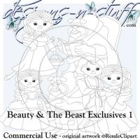 Beauty and The Beast Digital Stamps Exclusives 1