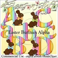 Chocolate Bunnies Alpha CU