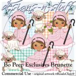 Bo Peep Clipart Exclusives Brunette