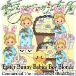 Easter Bunny Babies Boy Blonde CU