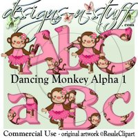 Dancing Monkey 1 Alpha CU