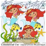 Mermaid Clipart Exclusives 2