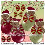 Christmas Gingers Ornaments CU