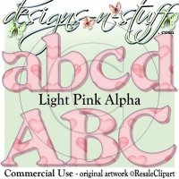 Light Pink Heart Alpha CU