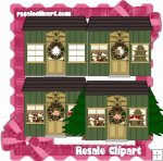 Christmas Green Cottage CU