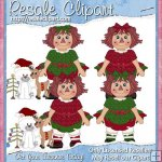 Raggedy Christmas Girls 2 CU