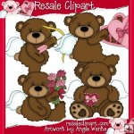 Tattered Teddies Valentines 1 CU
