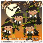 Bewitching Green Braids 2 Resell