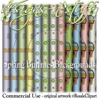 Spring Bunnies Backgrounds CU