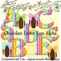 Chocolate Easter Eggs Alpha CU