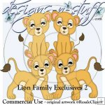 Lion Family Clipart Exclusives 2