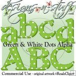 Christmas Green and White Dots Alpha CU