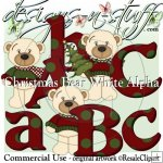 Christmas Bear White Boys Alpha CU