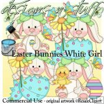 Easter Bunnies White Girl CU