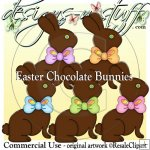 Easter Chocolate Bunnies CU
