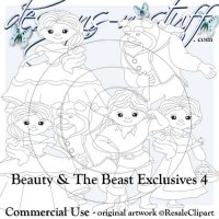 Beauty and The Beast Digital Stamps Exclusives 4