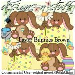 Easter Bunnies Brown CU
