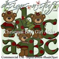 Christmas Bear Girls Alpha CU