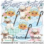 Bo Peep Clipart Exclusives Blonde