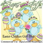 Easter Chickey Girl Blue CU