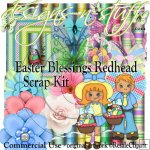 Easter Blessings Redhead Scrap Kit CU
