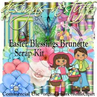 Easter Blessings Brunette Scrap Kit CU