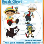 Pinocchio Clipart Exclusives 2