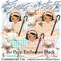 Bo Peep Clipart Exclusives Black