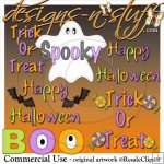 Halloween Word Art Resell