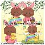 Easter Bunny Girls African CU