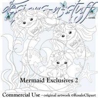 Mermaids Digital Stamps Exclusives 2