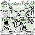 Black and White Circles Alpha CU
