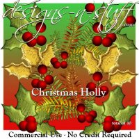 Christmas Holly 1 CU