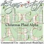 Christmas Plaid Alpha CU