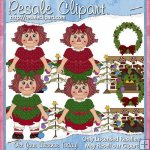 Raggedy Christmas Girls 1 CU