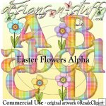 Easter Flowers Alpha CU
