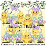 Easter Chick Baskets CU