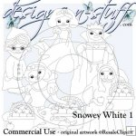 Snowy White Digital Stamps 1