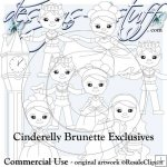 Cinderelly Digital Stamps Exclusives Brunette