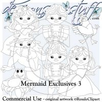 Mermaids Digital Stamps Exclusives 3