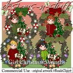 Girl Christmas Wreaths
