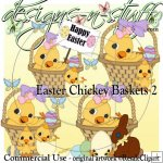 Easter Chickey Baskets 2 CU