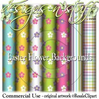 Easter Flower Backgrounds CU