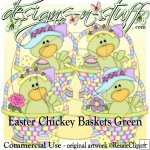 Easter Chickey Baskets Green CU