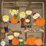 Pumpkin Family Patch CU