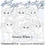 Snowy White Digital Stamps 2