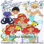 Mermaid Clipart Exclusives 1