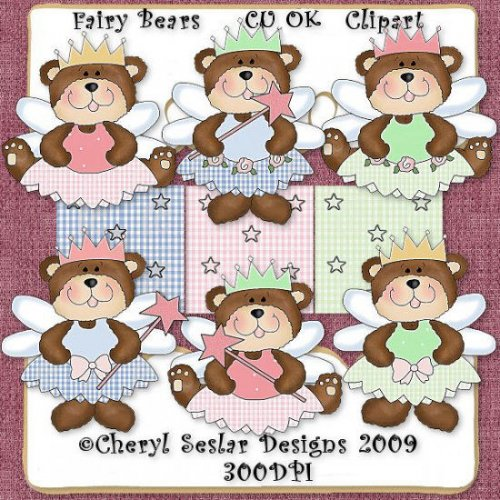 Easter Fairy Bears CU