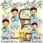 Easter Bunny Babies Boy Black CU