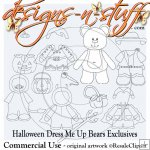 Halloween Dress Me Up Bears Digital Stamps Exclusives